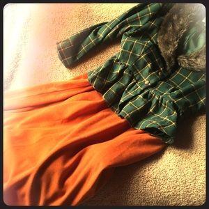 Dresses & Skirts - Pumpkin spice belted skirt